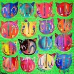 Cores vivas e alegria nas obras de Aline Tercete
