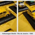 Coleção Táxis Clássicos em miniatura que circularam em vários países até o ano 2000