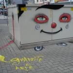 Arte em grafite no centro de Criciúma (SC)