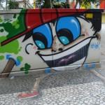 Arte em grafite no calçadão