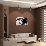 Marrom se destaca no ambiente com detalhes em branco e preto