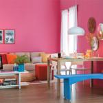 Ousadia com pink na sala