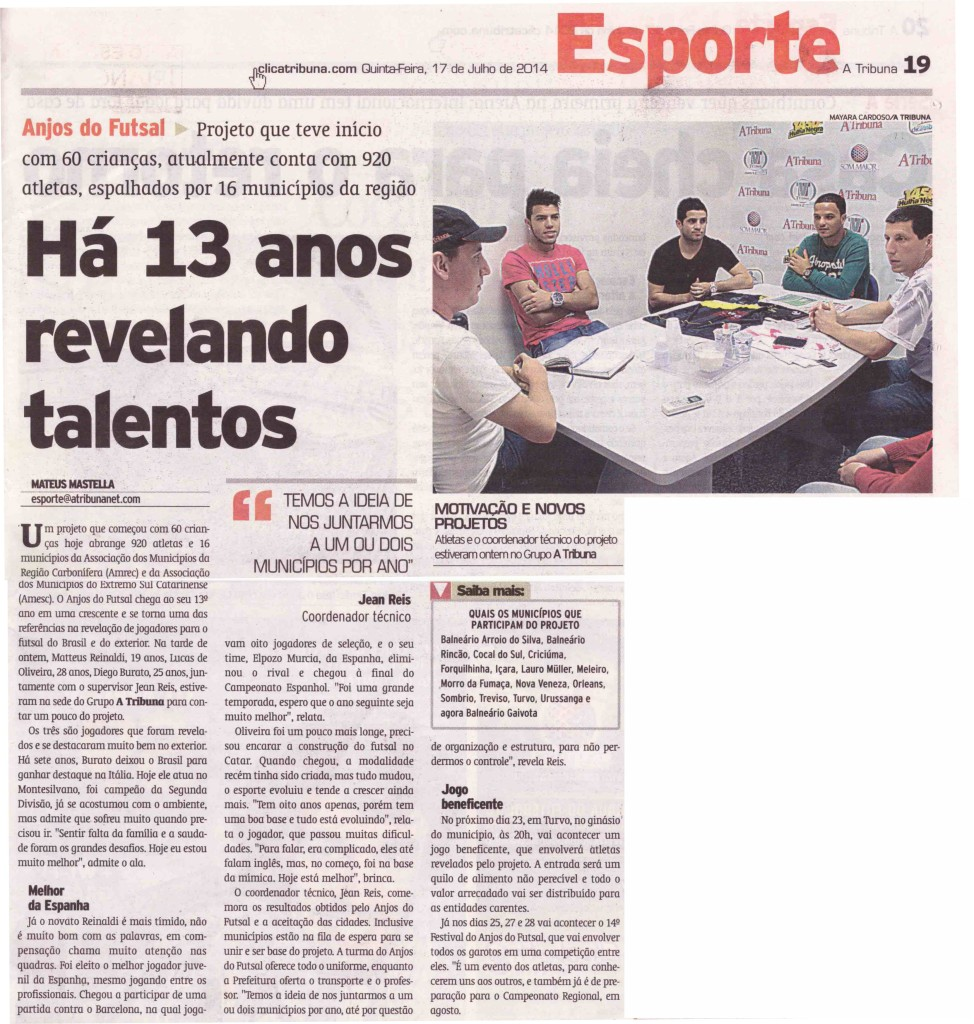 Jornal A Tribuna - 17/07/2014