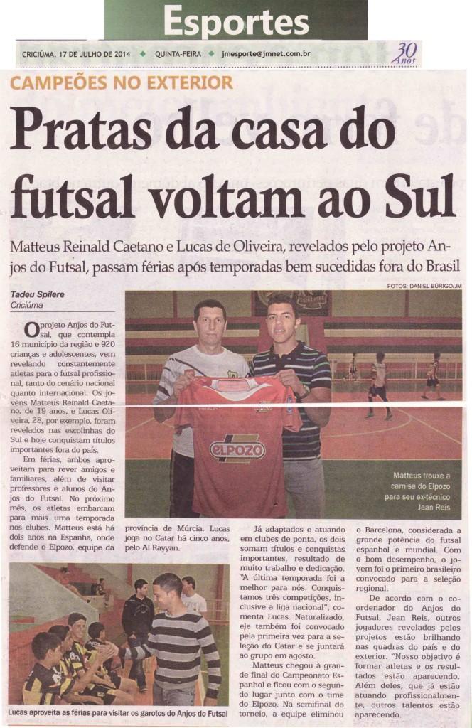 Jornal da Manhã - 17/07/2014