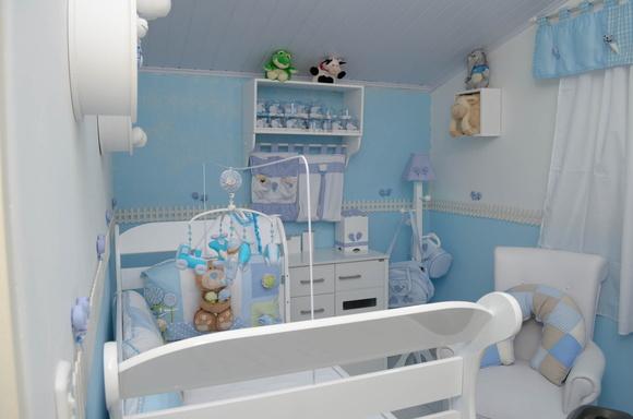 Azul e branco em harmonia no quarto do bebê  Blog da AnjoBlog da Anjo