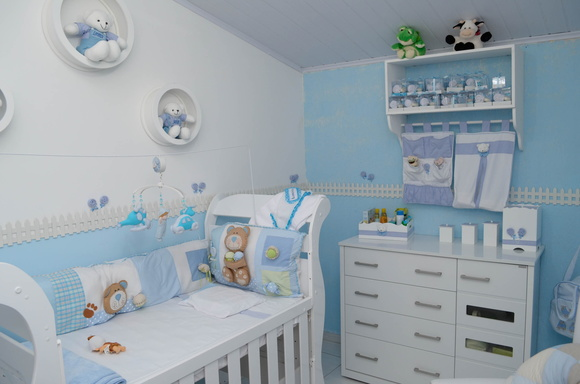 Azul e branco em harmonia no quarto do beb blog da for Modelos de habitaciones infantiles