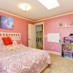 A cor rosa é predominante nos quartos de meninas