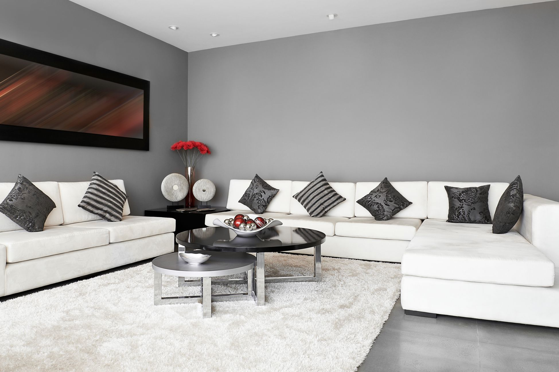 Combina O Perfeita Entre O Cinza E O Branco Blog Da Anjoblog Da Anjo -> Sala Em Cinza E Vermelho