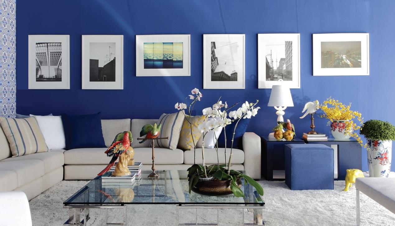 Sala De Estar Vazia Rack E Painel De Tv Por Elaine Dia Em Sala De  -> Decoracao De Sala Azul Marinho