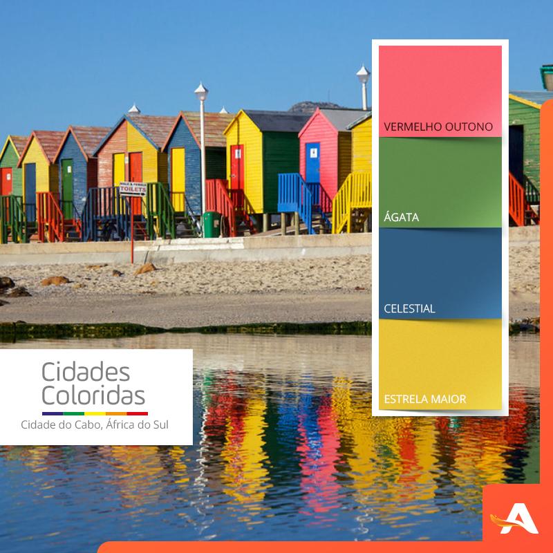 Bo-Kaap é o bairro mais vivo e colorido da cidade.