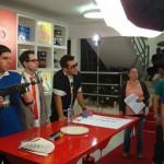 Jovens cientistas do Ciência em Show do Programa Eliana gravam na Anjo