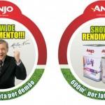 Milton Neves está nos materiais para pontos de vendas da Anjo