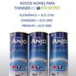 Thinners Ecoeficientes Anjo estão com novos nomes