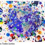 Cores e bolas na arte de Graziela Pinto