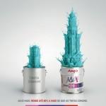 Nova tinta da Anjo rende até 80% a mais que as tintas comuns