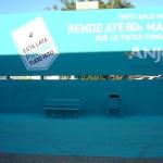 Pintura de outdoor + muro + chão + banco + lixeira mostra rendimento da Tinta Anjo Mais