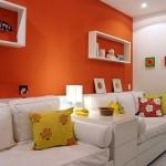 Mais vida ao ambiente com a cor laranja