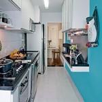 Azul na parede da cozinha?