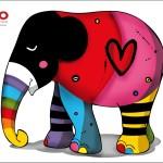 Escultura da Anjo para a exposição Elephant Parade já está sendo pintada